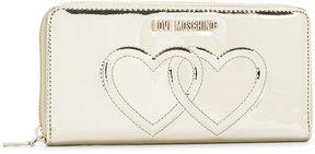 Love Moschino metallic logo wallet