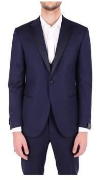 Corneliani Men's Blue Wool Blazer.