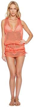 Luli Fama Take Me to Paradise T-Back Mini Dress Cover-Up Women's Dress