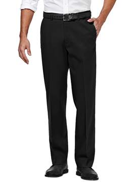 Haggar Big & Tall Premium No-Iron Stretch Classic-Fit Flat-Front Khaki Pants