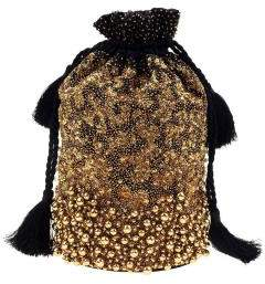 Forest of Chintz Gold Dust Drawstring Bag