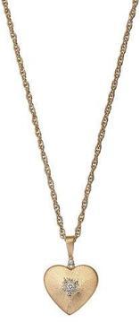 Buccellati Macri 18k Diamond Heart Pendant Necklace