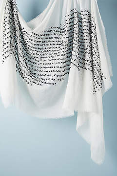 Anthropologie French-Knotted Silk Scarf