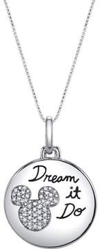 Disney Sterling Silver Dream It Do It Mickey Mouse Pendant with Diamond Accents
