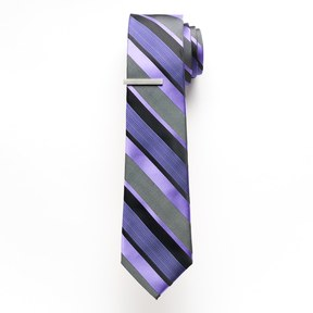 Apt. 9 Men's Skinny Tie with Tie Bar
