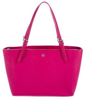 Tory Burch Leather York Tote - PINK - STYLE
