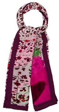 Diane von Furstenberg Embellished Floral Scarf