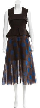 DELPOZO Polka Dot Silk Dress w/ Tags