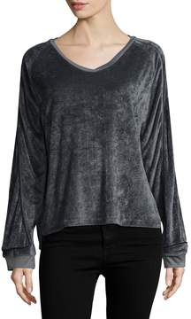 Lot 78 Lot78 Women's Velour Slouch Top