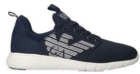 Emporio Armani Men's Blue Synthetic Fibers Sneakers.