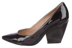 Pour La Victoire Patent Leather Pointed-Toe Pumps