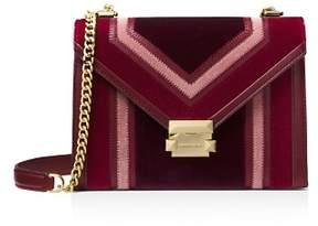 MICHAEL Michael Kors Whitney Large Velvet Shoulder Bag
