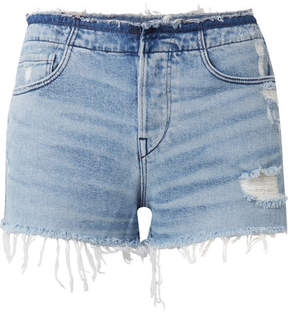 3x1 W4 Shelter Distressed Denim Shorts - Light denim