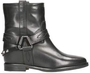 Julie Dee Tex Black Nappa Wedge Ankle Boots