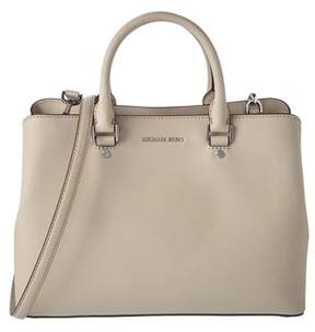 MICHAEL Michael Kors Savannah Large Leather Satchel. - WHITE - STYLE