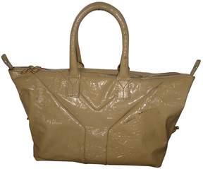 Saint Laurent Easy patent leather handbag - BROWN - STYLE