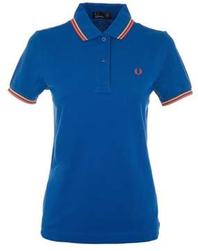 Fred Perry Women's Blue Cotton Polo Shirt.
