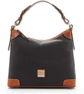 Dooney & Bourke Pebble Leather Hobo Bag - BLACK - STYLE