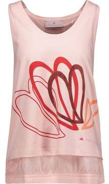 adidas by Stella McCartney Layered Shell And Appliquéd Cotton Tank