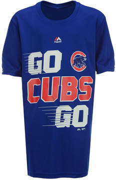 Majestic Chicago Cubs Double Header T-Shirt, Big Boys (8-20)