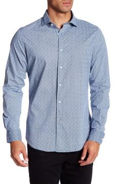 Ganesh Long Sleeve Modern Fit Printed Shirt