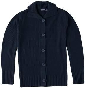 Chaps Girls 7-16 School Uniform Button-Front Sweater