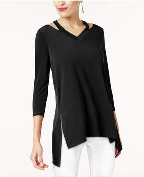 Alfani Cutout High-Low Tunic, Created for Macy's