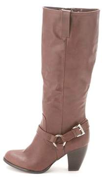 Style&Co. Style & Co. Womens Leighh Almond Toe Knee High Cowboy Boots.