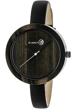 Earth Yosemite Collection ETHEW3702 Unisex Wood Watch with Leather Strap