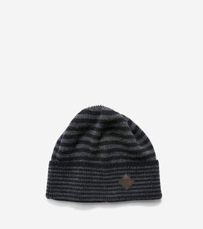 Cole Haan Double Stripe Cuff Hat