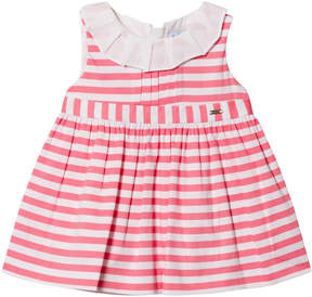 Mayoral Pink Striped Dress with Frill Collar