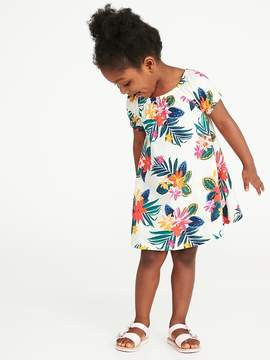Old Navy Floral-Print Jersey Swing Dress for Toddler Girls