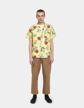 Obey Kane Woven SS Shirt in Yellow Multi