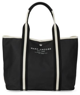 Marc Jacobs Canvas East West Tote - BLACK - STYLE