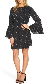 CeCe Women's Bell Sleeve Polka Dot Dress