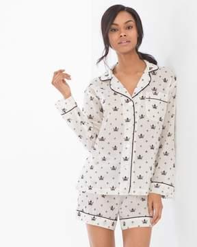 BedHead Cotton Flocked Shorty Pajama Set