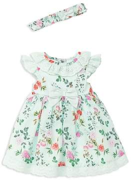 Little Me Girls' Garden Party Dress, Headband & Bloomers Set - Baby