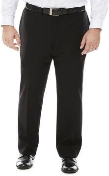 Claiborne Grid Flat-Front Suit Pants - Big & Tall