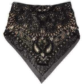 Saint Laurent – Embroidered Beaded Bandana – Womens – Black