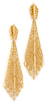 Ben-Amun Long Clip On Earrings
