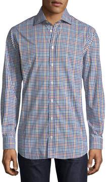 Luciano Barbera Check Woven Sport Shirt