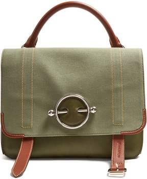 J.W.Anderson Disc leather and canvas satchel bag