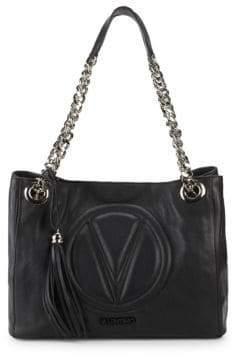 Mario Valentino Luisa Leather Chain Tote