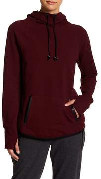 Andrew Marc Funnel Neck Hooded Sweatshirt
