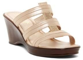 Italian Shoemakers Crystal Embellished Wedge Sandal