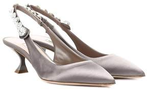 Miu Miu Satin slingback pumps