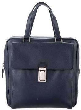 Prada Saffiano Front Pocket Briefcase