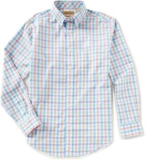 Roundtree & Yorke Gold Label Big & Tall Long-Sleeve Gingham Sportshirt