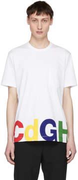 Comme des Garcons Homme White CDGH Pocket T-Shirt
