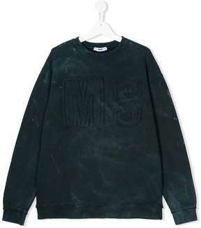 MSGM logo embroidered sweatshirt